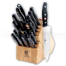 kitchen knives set zwilling j a henckels signature 19 kitchen knife block