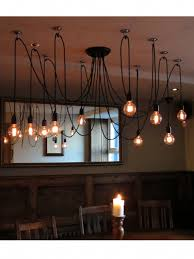 Cable Pendant Lighting Multi Pendant With 10 Filament Ls Hung At Different Drops From