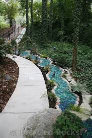 recycled glass landscape recycled rocks glass landscaping