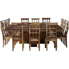 ranch large square dining room table and chair set for 12 full