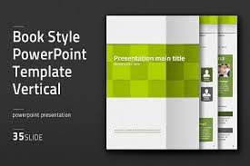 book style ppt template vertial presentation templates