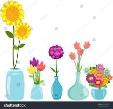 Clipart Vase Of Flowers Illustration Isolated Set Flowers Vases On Stock Vector 116889298