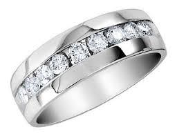 mens 14k white gold wedding bands mens diamond wedding band 1 4 carat ctw in 14k white gold