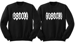 trouble matching bff sweatshirt matching best friend