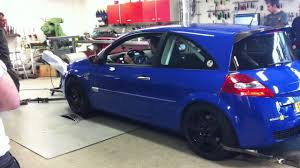 renault megane 2004 blue renault megane rs f1 r25 on dyno youtube