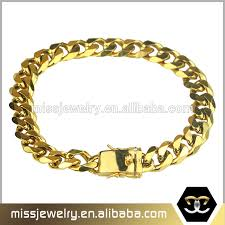 gold box chain bracelet images Stainless steel box clasp gold cuban chain stainless steel box jpg