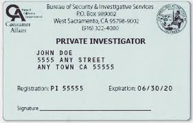 california private investigator pi license test
