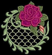 lacy applique lace machine embroidery designs cd 4x4 for