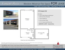 eastgate mall floor plan 5278 eastgate mall san diego ca 92121 showroom property for