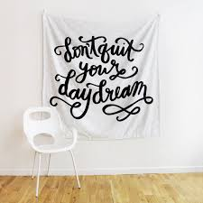 Dorm Wall Decor by Don U0027t Quit Your Daydream Tapestry Room Decor Decor Bedroom
