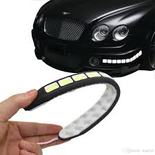 square 21cm bendable led daytime running light 100 waterproof cob