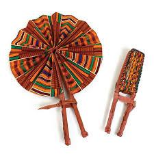 folding fan kente 1 leather folding fan woven fans africa