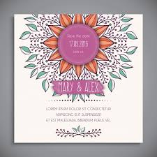 white floral wedding invitation template vector free download