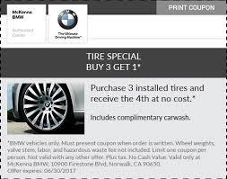 bmw tire specials mckenna bmw service specials in norwalk norwalk ca