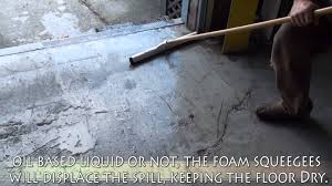 Floor Squeegee by Foam Floor Squeegee Demo Video Youtube