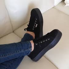 Are Superga Sneakers Comfortable 46 Off Superga Shoes All Black Superga Platform Sneakers From