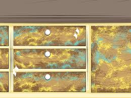 How To Glaze Kitchen Cabinets How To Distress Cabinets With Pictures Wikihow