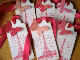 Eiffel Tower Party Decorations Eiffel Tower French Paris Gift Tags Pink Butterfly 5 95 Via