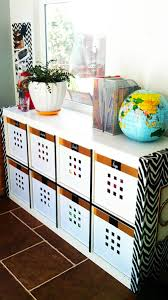 contact paper desk makeover ikea expedit hack