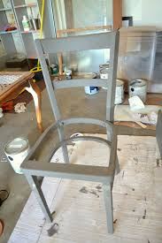 chalk paint chevron chair