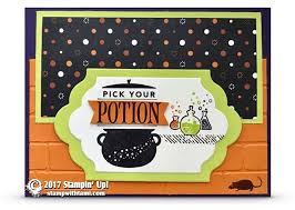 card pick your potion spooky cat halloween card stampin up