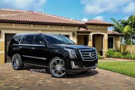 cadillac escalade black rims black cadillac escalade improved with chrome billet grille and