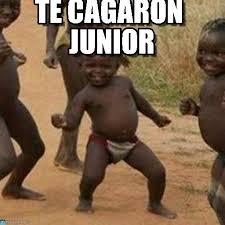 Junior Meme - te cagaron junior third world success kid meme on memegen