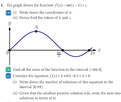 trigonometry how to determine the maximum of a sine graph with