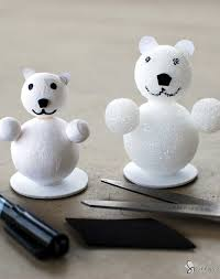 easy polar bear craft project idea source article craft foam