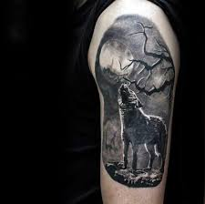 collection of 25 wolf howling moon on shoulder