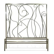 buy millenium headboard metal finish gunmetal size king