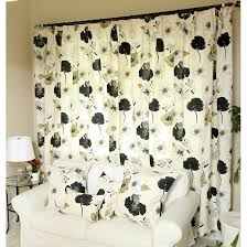 Black Ivory Curtains Deeply Country Flowers Ivory Black Cotton Curtains Buy Ivory
