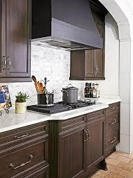 awesome backsplash ideas for dark cabinets also modern home