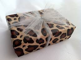 leopard wrapping paper leopard wrapping paper with tulle would get green