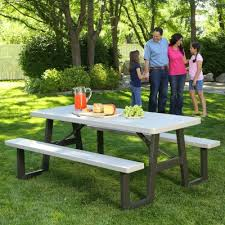 Folding Picnic Table With Benches W Frame Folding Picnic Table Putty