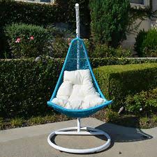 egg shape wicker rattan swing bed chair weaved hanging hammock