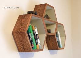 Wooden Shelf Building by Best 25 Honeycomb Shelves Ideas On Pinterest Hexagon Shelves