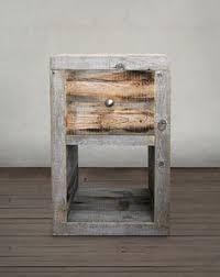 rustic nightstand handmade natural pine reclaimed wood
