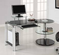 Black Tempered Glass Computer Desk Allaire Tempered Glass Black Computer Desk Desk Ideas