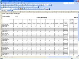 Sales Forecast Spreadsheet Exle by 12 Month Sales Forecast Template Free Sales Forecast Template
