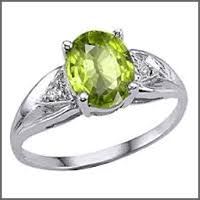 Used Wedding Rings by Pre Owned Used Peridot Engagement Rings