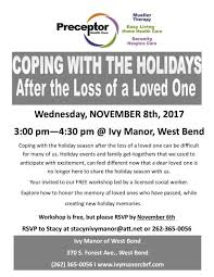 coping with the holidays after the loss of a loved one