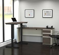 Desk Height Adjusters by White Chocolate U0026 Antigua Office Desk With Included Sit Stand Desk
