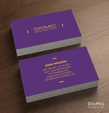 Minimal Business Card Designs Simple Purple Diomioprint