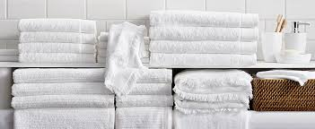 How To Wash Colored Towels - bath towels 101 how to choose towels crate and barrel
