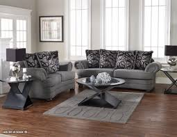 Modern Sectional Sofas Microfiber Gray Living Room Furniture Human Painting Focal Point Gray Throw