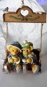 cherished teddies chair swing dear santa ornament bradford