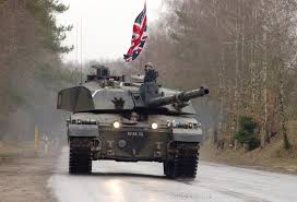 German British Flag File A Challenger 2 Main Battle Tank From The Royal Scots Dragoon