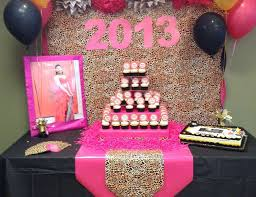 leopard print party supplies hot pink gold black and leopard print graduation end of