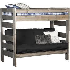cheyenne driftwood full over full bunk bed dw 4144 4145 4795 fu